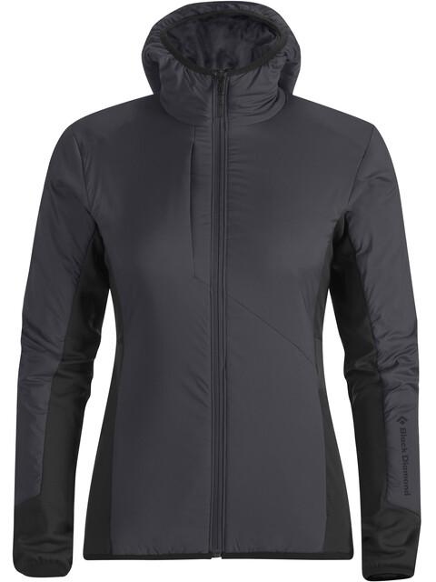 Black Diamond Deployment Hybrid Hoody Jacket Women Smoke